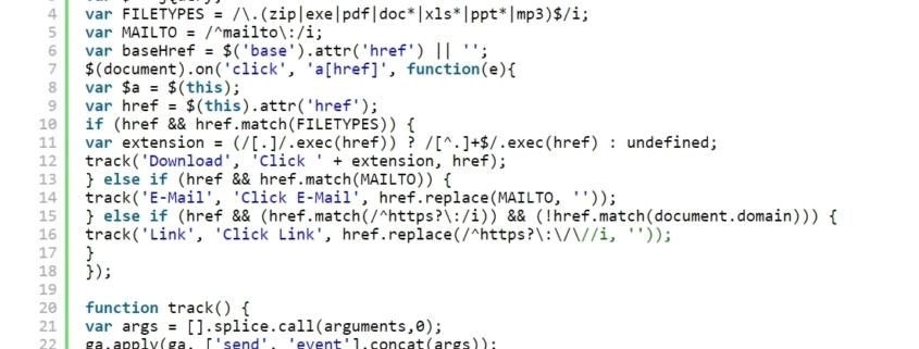 google Analytics Code Tricks