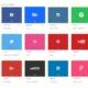 Farbencodes von den Social Media Netzwerken