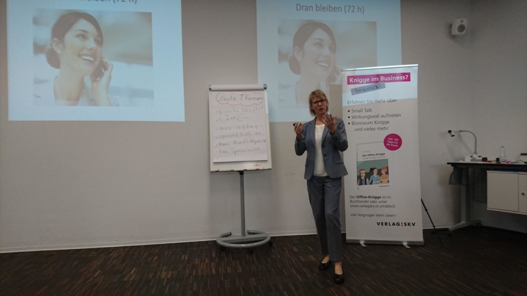 Workshop-bei-Susanne-Abplanalp-Smal-Talk am Business-Network-Day-2018-Swonet