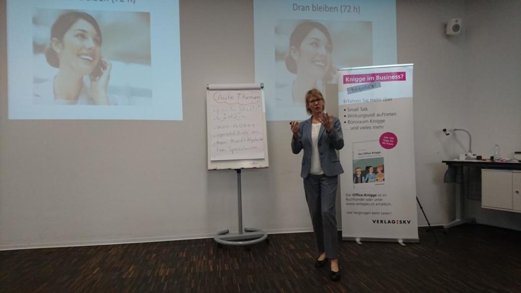 Workshop-bei-Susanne-Abplanalp-Smal-Talk am Business-Network-Day-2018-Swonet