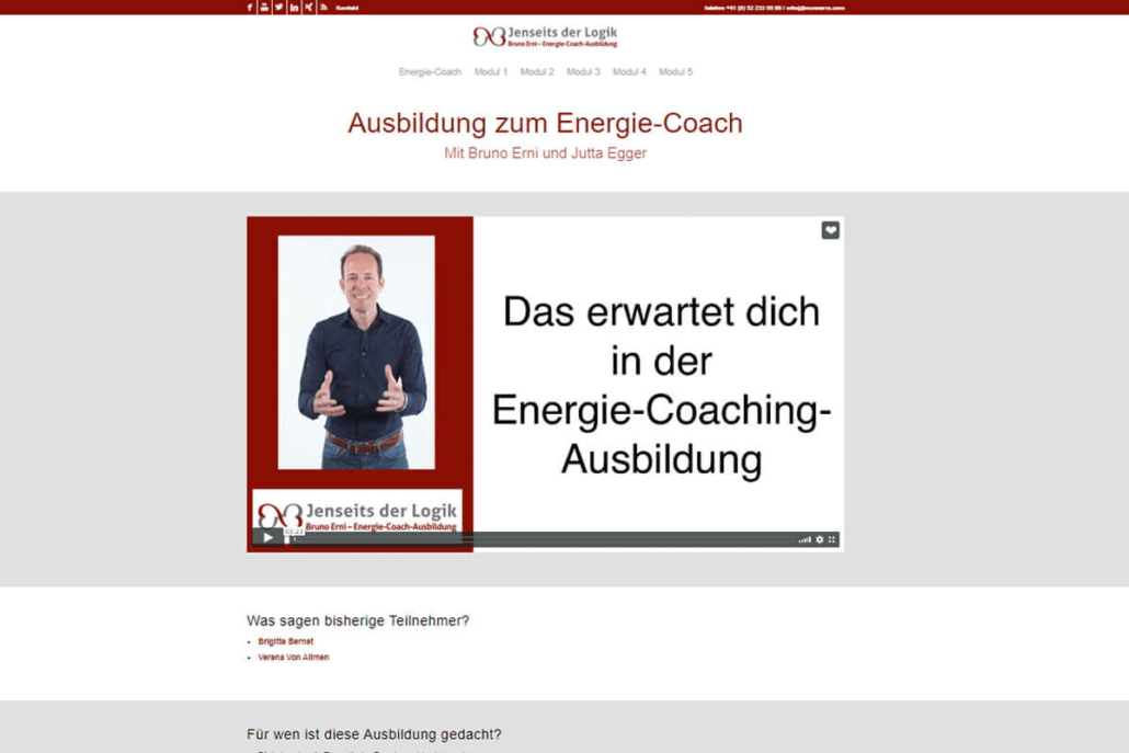 web updates kmu GmbH-wuk-WordPress und SEO Agentur - neue Webseite Energie-Coach-Ausbildung Bruno Erni mit Digimember