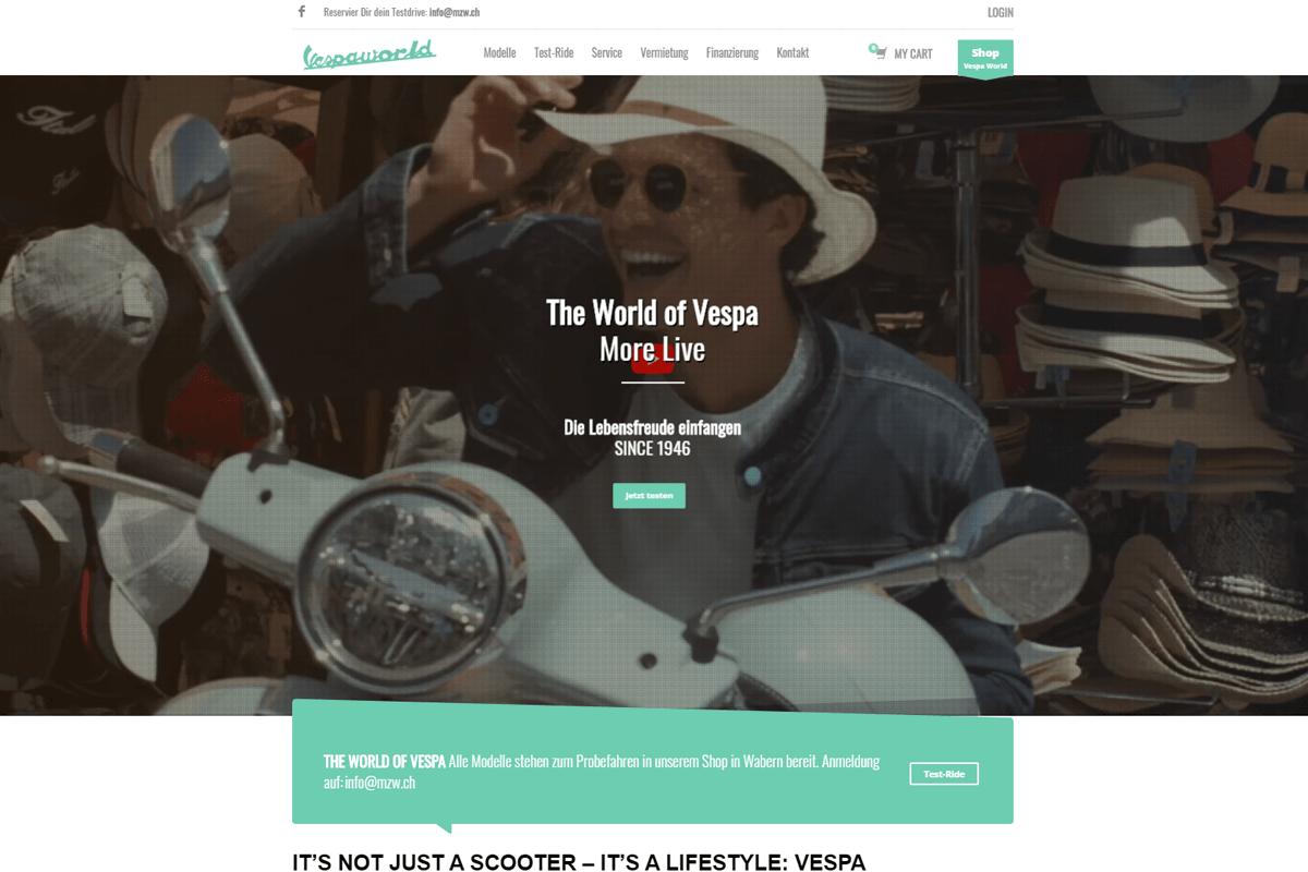 web updates kmu GmbH-wuk-WordPress und SEO Agentur - neue Webseite Vespaworld