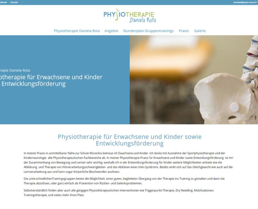 web updates kmu GmbH-wuk-WordPress und SEO Agentur - Relaunch Physio Rota Würenlos
