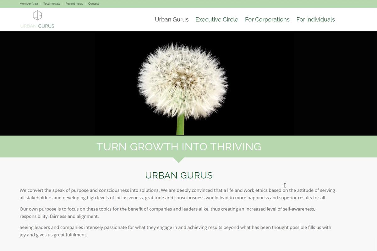 web updates kmu GmbH-wuk-WordPress und SEO Agentur - Neue Webseite Urban Gurus