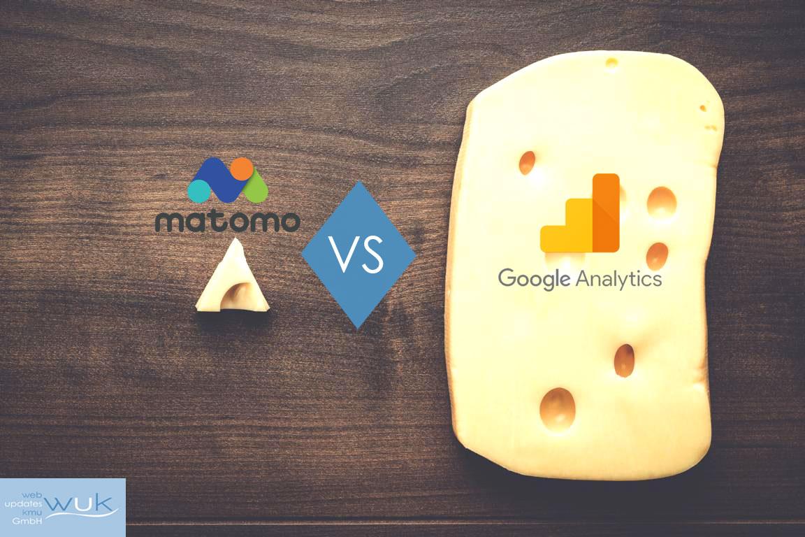 web updates kmu GmbH-wuk-WordPress und SEO Agentur - Google Analytics vs Matomo