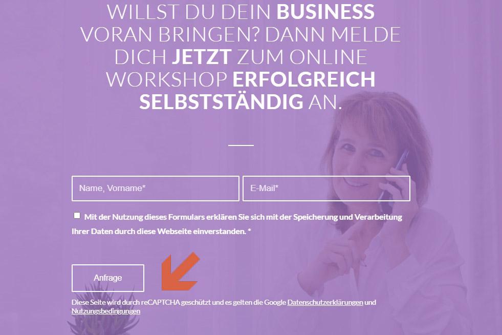 web updates kmu GmbH-wuk-WordPress und SEO Agentur - Google recaptcha3