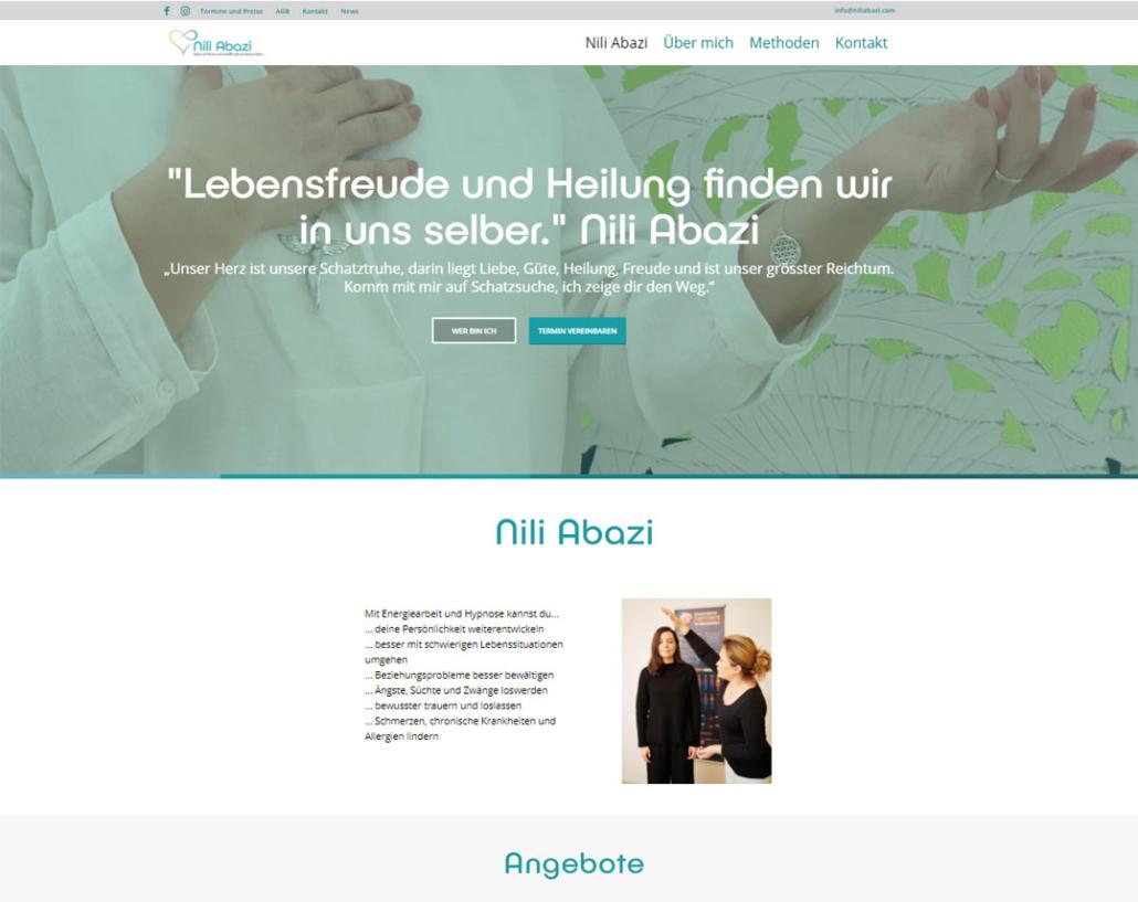 web updates kmu GmbH-wuk-WordPress und SEO Agentur - Redesign Nili Abazi Energie Coach